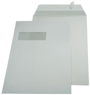 Gallery enveloppen ft 229 x 324 mm, venster links, stripsluiting, binnenzijde grijs, doos van 250 stuks