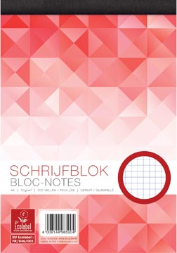 Work schrijfblok, ft A5, 70 g/m², 100 vel, geruit 5 mm
