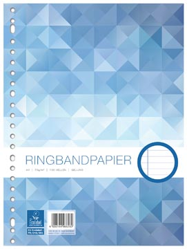 Work ringbandinterieur A4, 23 gaten met kantlijn
