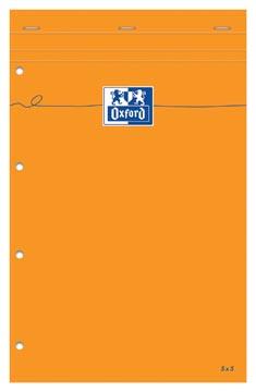 Oxford Orange Pads schrijfblok, ft A4+, geruit 5 mm , 160 bladzijden, 4-gaatsperforatie