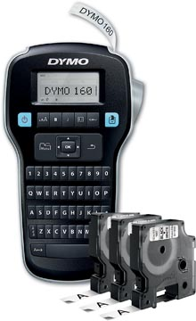 Dymo LabelManager 160 Value Pack: 3 x D1 tape, zwart op wit, 12 mm + 1 x LabelManager 160P, qwerty