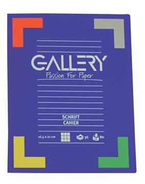 Gallery schrift, ft 16,5 x 21 cm, gelijnd, 72 bladzijden