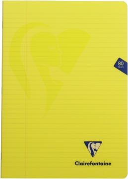 Clairefontaine schrift mimesys voor ft A4, 80 bladzijden, kaft in PP, gelijnd, geassorteerde kleuren