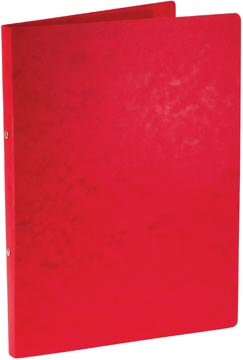 Bronyl ringmap, voor ft A4, uit glanskarton, 2 ringen van 16 mm, rood
