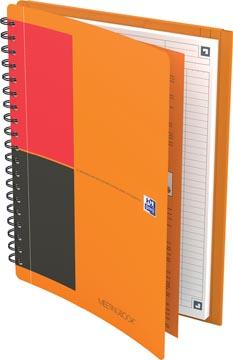 Oxford INTERNATIONAL meetingbook connect, stevige kartonnen kaft oranje, 160 bladzijden,ft B5, gelijnd