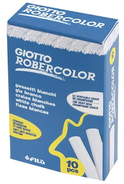 Giotto krijt Robercolor wit, doos met 10 krijtjes