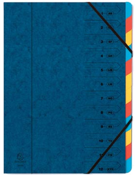 Exacompta Sorteermap 12-delig, blauw