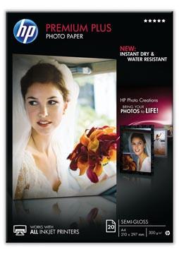 HP Premium Plus fotopapier ft A4, 300 g, pak van 20 vel, semi-glanzend