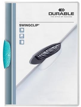 Durable klemmap Swingclip transparant lichtblauw