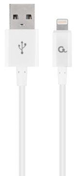 Cablexpert oplaad- en gegevenskabel, USB 2.0-stekker naar 8-pin stekker, 1 m, wit
