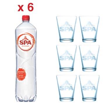 ACTIE SPA: 2 x Spa Intense, 1,5 liter, 6 stuks (ref. 51840) + GRATIS 1 x Spa glas, 6 stuks (ref. SPAGLAS)