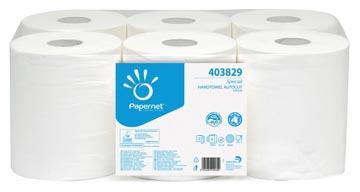 Papernet handdoekrol Special, 2-laags, 140 meter, pak van 6 rollen