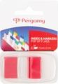 Pergamy index ft 43 x 25 mm, rouge